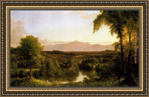 Thomas Cole View on the Catskill - Early Autumn Framed Painting