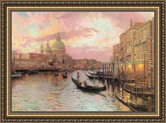 Thomas Kinkade venice Framed Painting