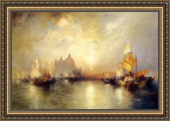 Thomas Moran Entrance to the Grand Canal, Venice Framed Painting