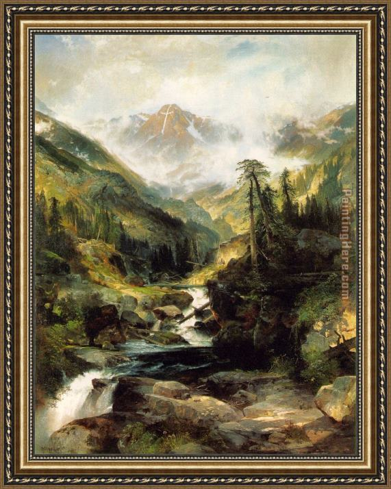 Thomas Moran Mountain of the Holy Cross Framed Painting