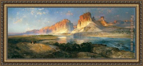 Thomas Moran Nearing Camp on the Upper Colorado River Framed Painting
