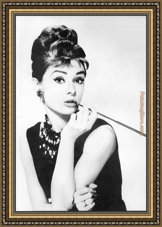 Unknown Artist Audrey Hepburn Framed Painting