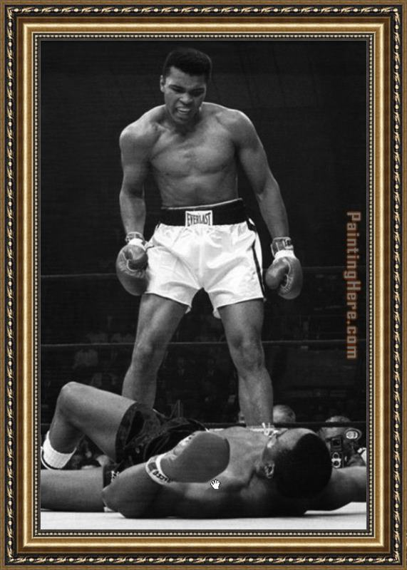 Unknown Artist Muhammad Ali Framed Painting