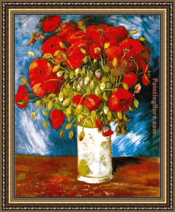 Vincent van Gogh Poppies 1886 Framed Painting