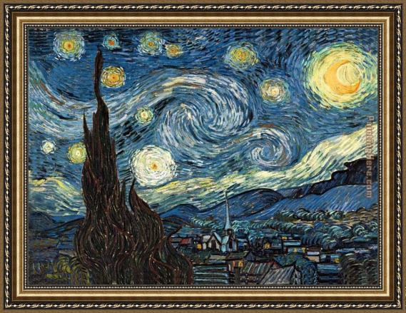 Vincent van Gogh The Starry Night 2 Framed Painting