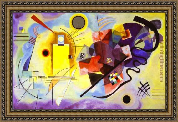 Wassily Kandinsky Yellow Red Blue Framed Painting