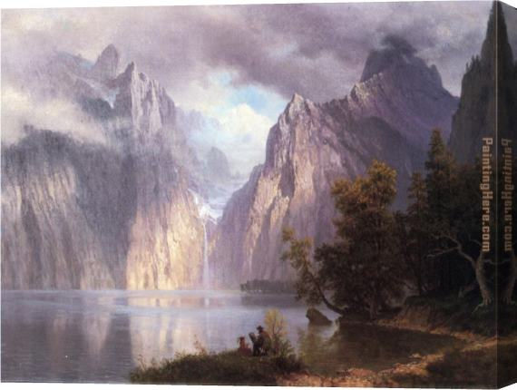 Albert Bierstadt Scene in the Sierra Nevada Stretched Canvas Painting