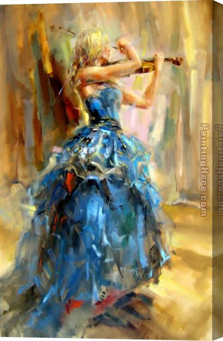 Anna Razumovskaya Dancing With a Violin 2 Stretched Canvas Painting
