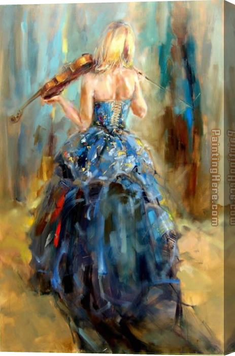 Anna Razumovskaya Dancing With a Violin 4 Stretched Canvas Painting