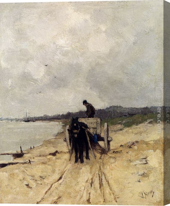 Anton Mauve The Sand-Cart Stretched Canvas Painting
