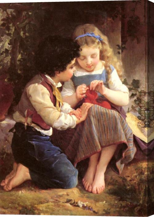 Emile Munier A Special Moment I Stretched Canvas Painting