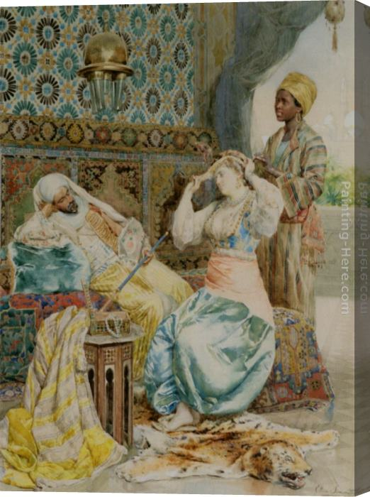 Ettore Simonetti The Favoured Beauty Stretched Canvas Painting