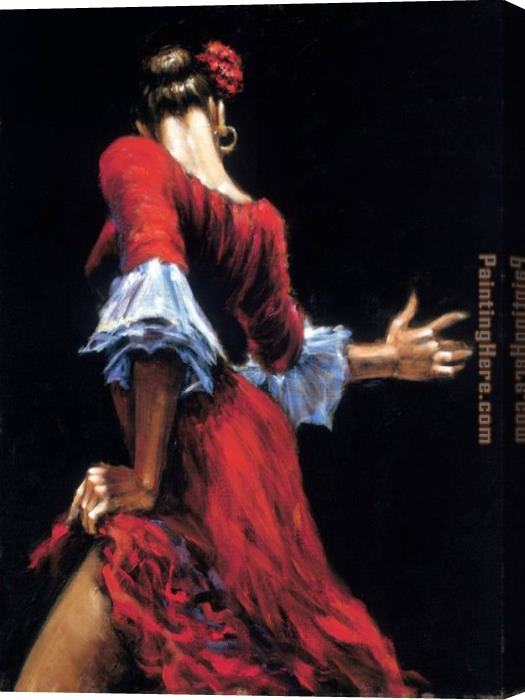 Fabian Perez Flamenco Dancer II Stretched Canvas Painting
