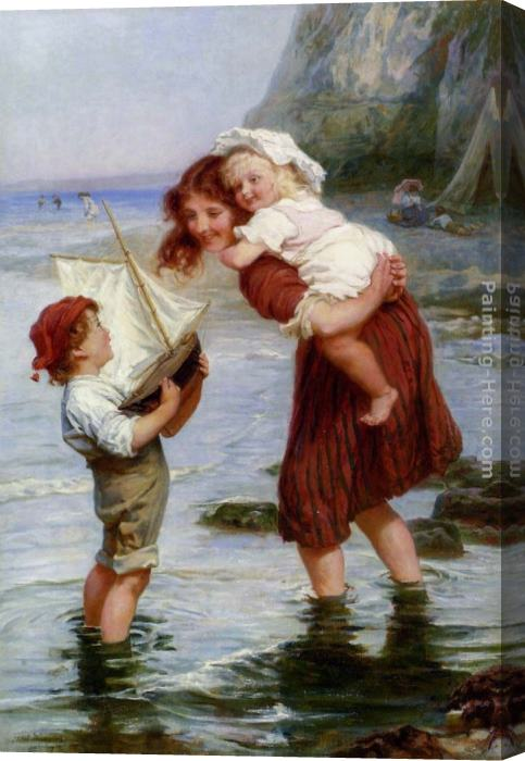 Frederick Morgan At Scarborough Stretched Canvas Painting