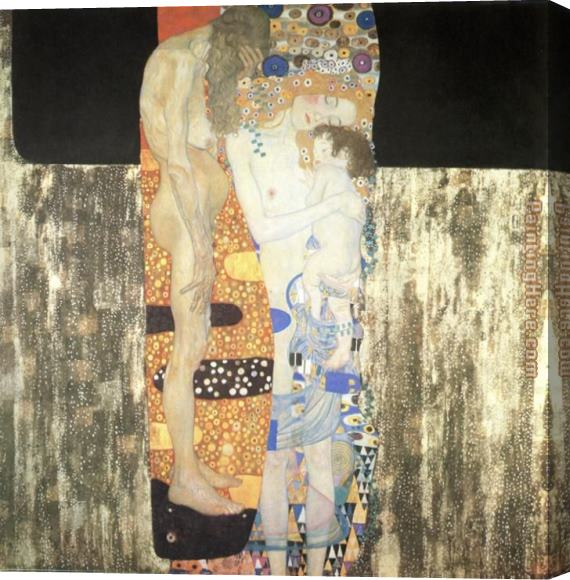 Gustav Klimt The Three Ages of Woman Stretched Canvas Painting
