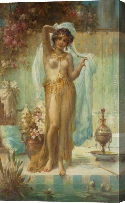 Hans Zatzka Dancing Beauty Stretched Canvas Painting