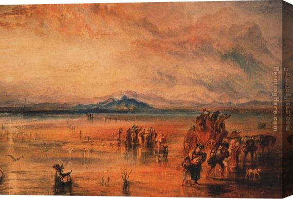 Joseph Mallord William Turner Lancaster Sands Stretched Canvas Painting