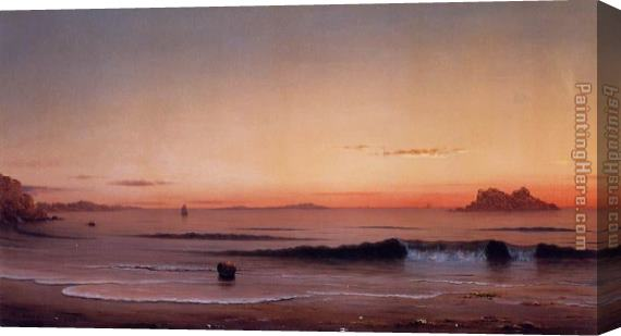 Martin Johnson Heade Twilight, Singing Beach Stretched Canvas Painting