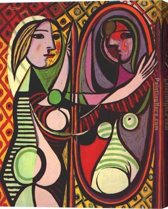 Pablo Picasso Girl Before a Mirror Stretched Canvas Painting