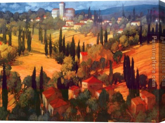 Philip Craig Tuscan Castle Stretched Canvas Painting