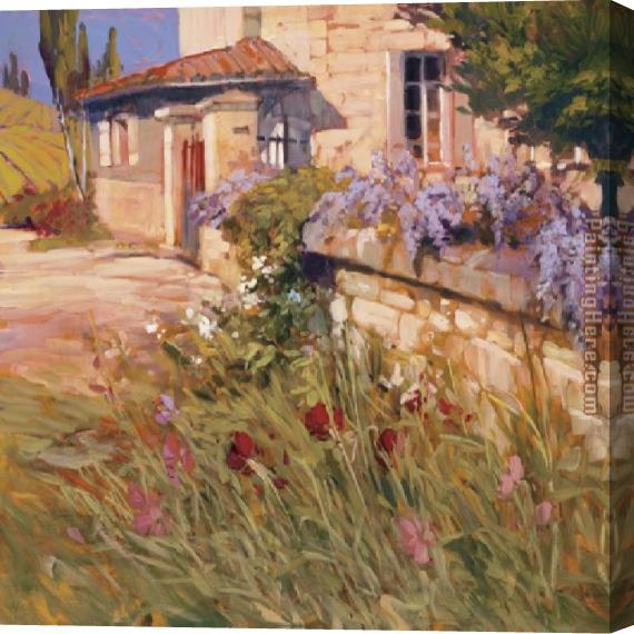 Philip Craig Wisteria Wall Stretched Canvas Painting