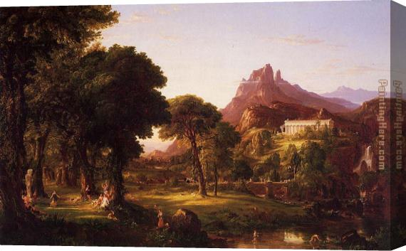 Thomas Cole Dream of Arcadia Stretched Canvas Painting