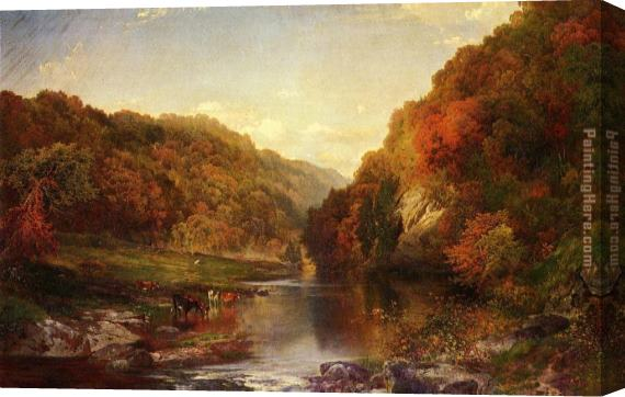 Thomas Moran Autumn on the Wissahickon Stretched Canvas Painting