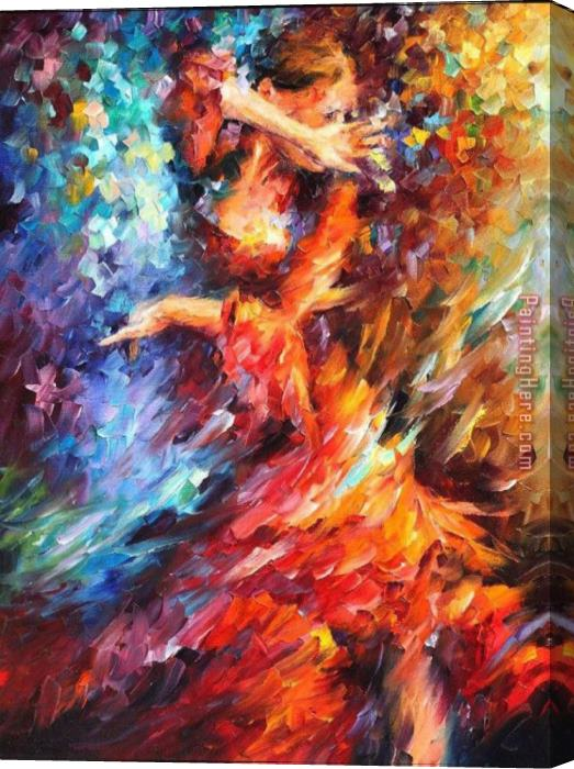 Unknown Artist Latina Dancing Stretched Canvas Painting