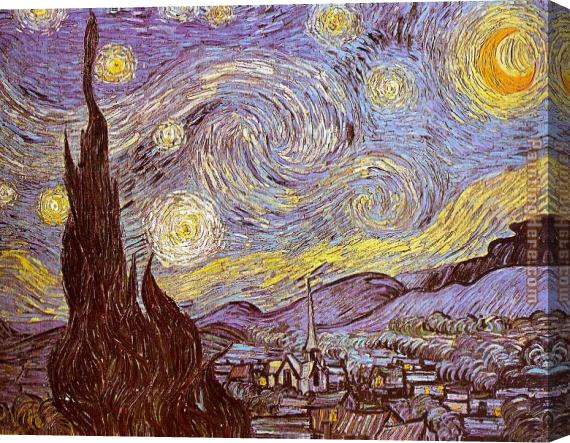 Vincent van Gogh The Starry Night Saint-Remy Stretched Canvas Painting