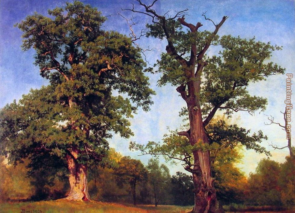 Pioneers of the Woods painting - Albert Bierstadt Pioneers of the Woods art painting