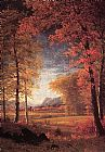 Autumn in America Oneida County New York by Albert Bierstadt