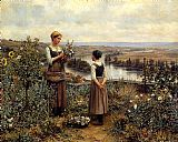 Knight Picking Flowers by Daniel Ridgway Knight