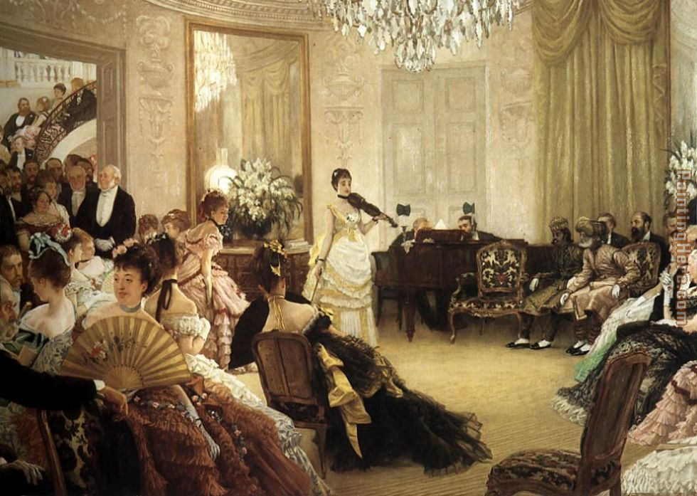 The Concert painting - James Jacques Joseph Tissot The Concert art painting