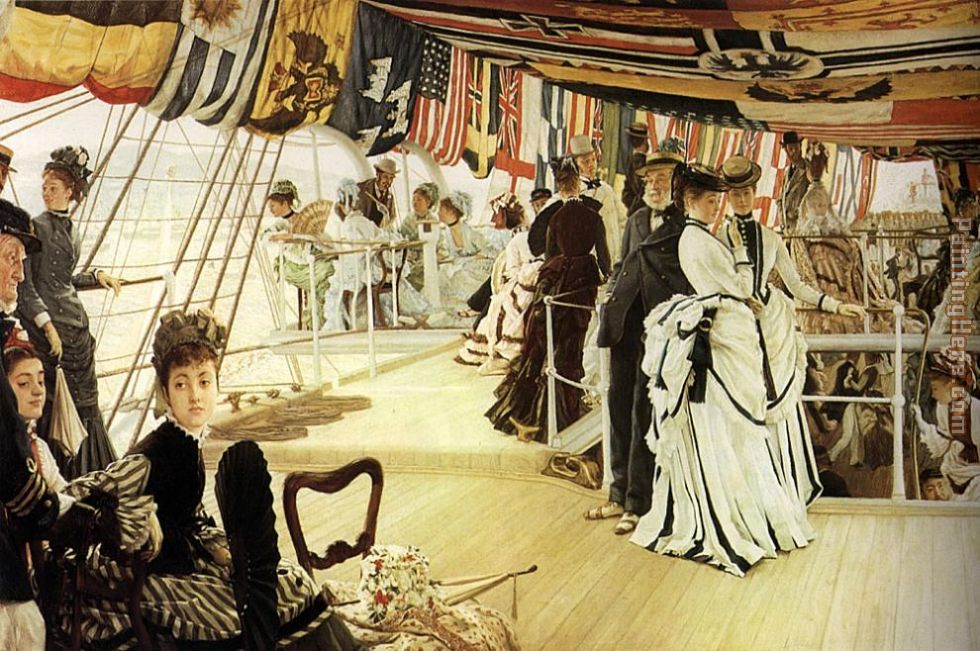 James Jacques Joseph Tissot The Ball on Shipboard Art Painting