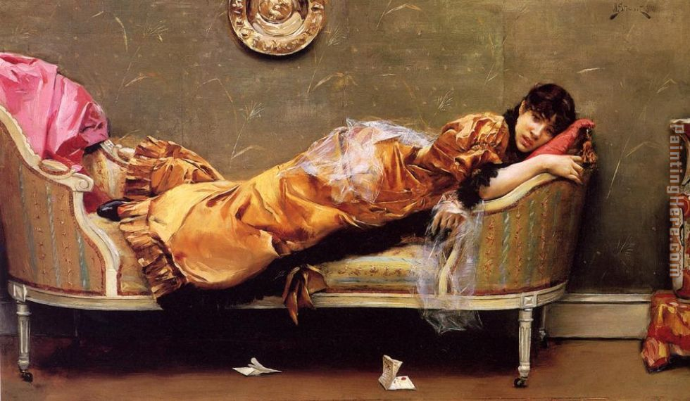 Julius LeBlanc Stewart The Letter Art Painting