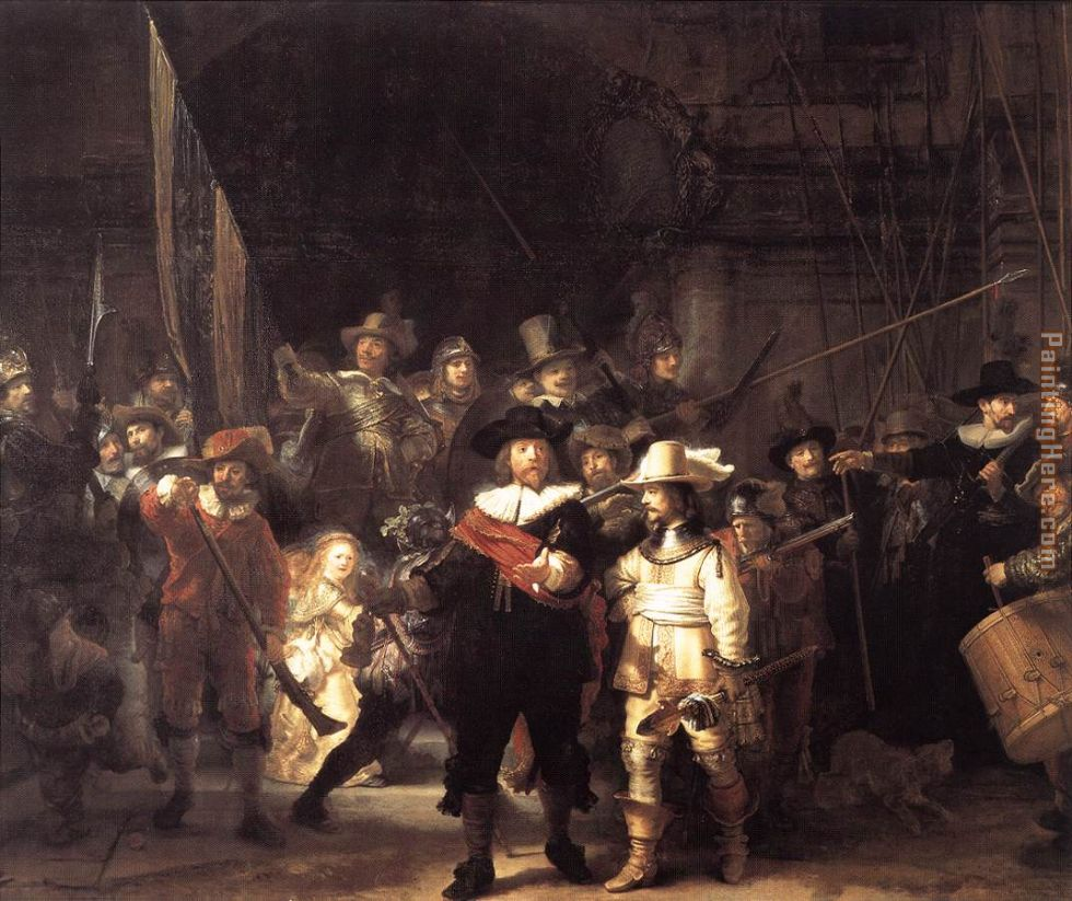 Rembrandt night watch painting - Rembrandt Rembrandt night watch art painting