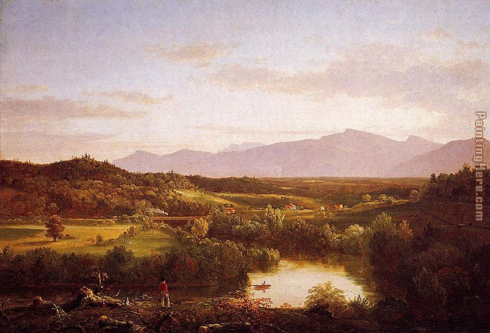 Thomas Cole River in the Catskills Art Painting