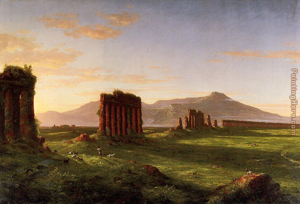 Roman Campagna painting - Thomas Cole Roman Campagna art painting