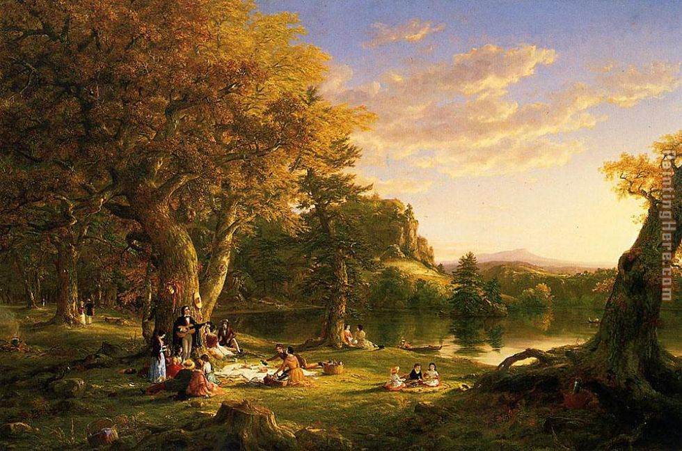 Thomas Cole The Picnic Art Painting