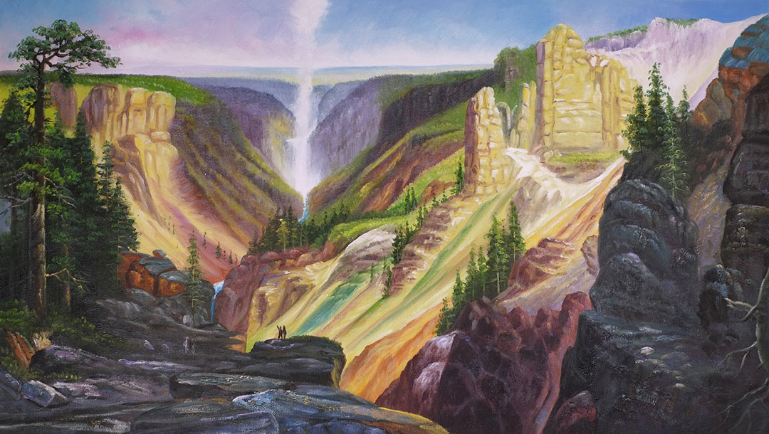 Grand Canyon of Yellowstone C painting - Thomas Moran Grand Canyon of Yellowstone C art painting