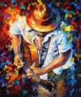Playing The Guitar by Unknown Artist