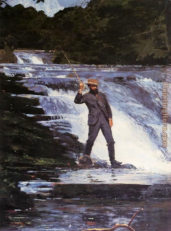 Winslow The Angler painting - Winslow Homer Winslow The Angler art painting