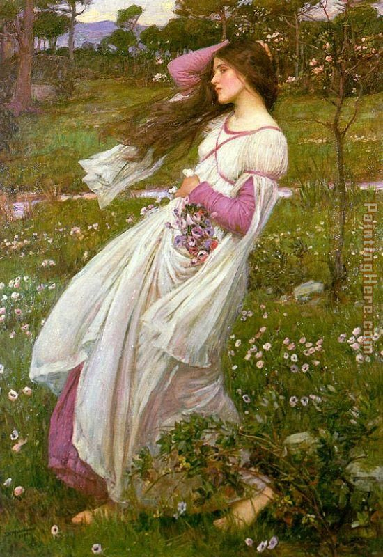 John William Waterhouse Waterhouse Windswept Art Painting