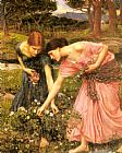 Gather ye rosebuds while ye may by John William Waterhouse